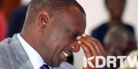 william ruto sad
