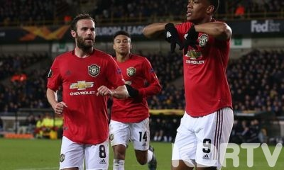 Manchester United holds Club Brugge in a 1 1 draw in away match