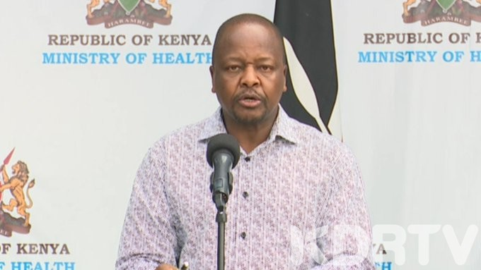 Mutahi Kagwe Health CS confirms seven new coronavirus cases